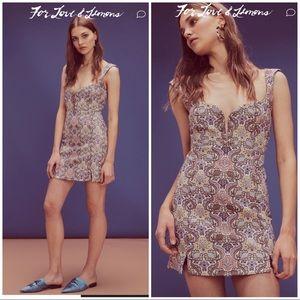 For Love and Lemons Brocade Tapestry mini dress